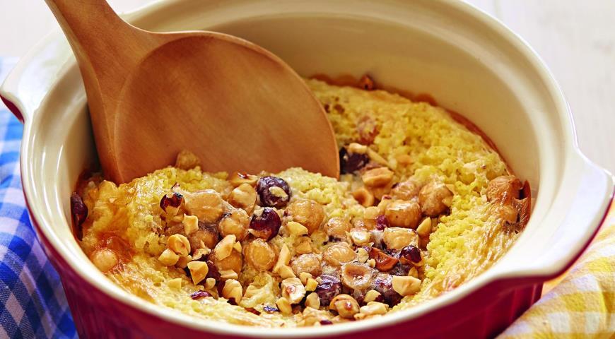 Рецепт Пшенная каша с изюмом и фундуком
