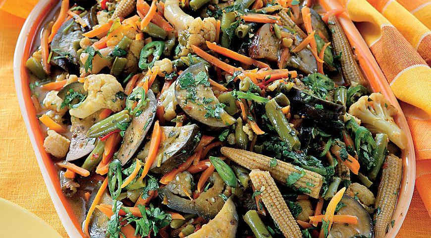 Рецепт Вегетарианское красное тайское карри