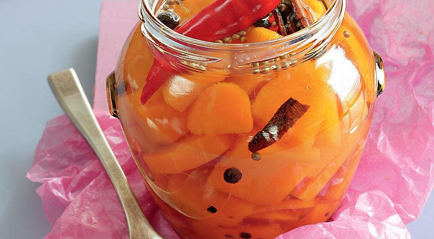 Рецепт Маринованная тыква с пряностями