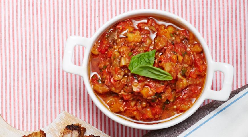 Рецепт Баклажаны в томатном соусе с базиликом