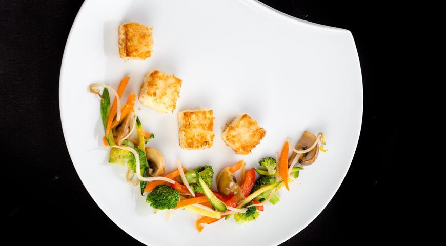 Рецепт Жареные овощи с тофу