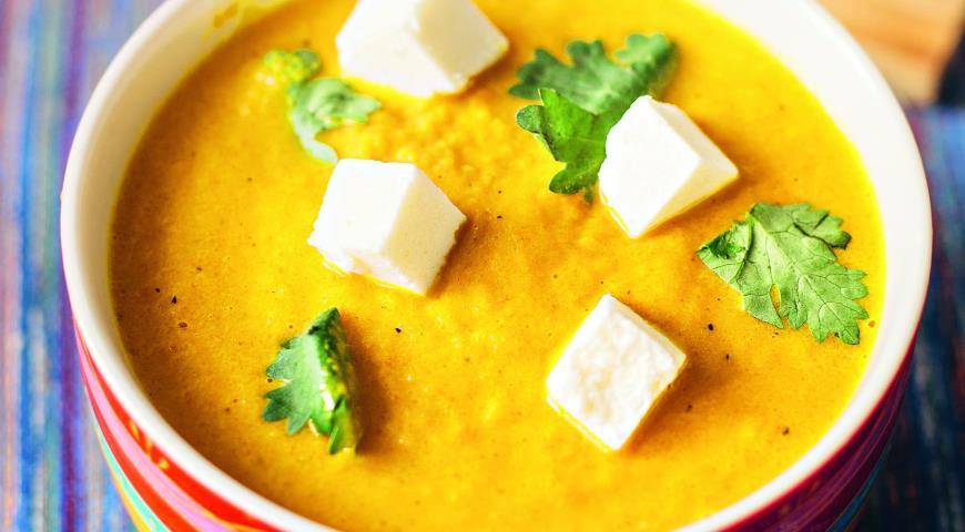 Рецепт Суп-пюре из моркови с сыром