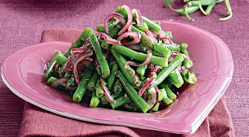 рецепты салатов из зеленой консервированной фасоли