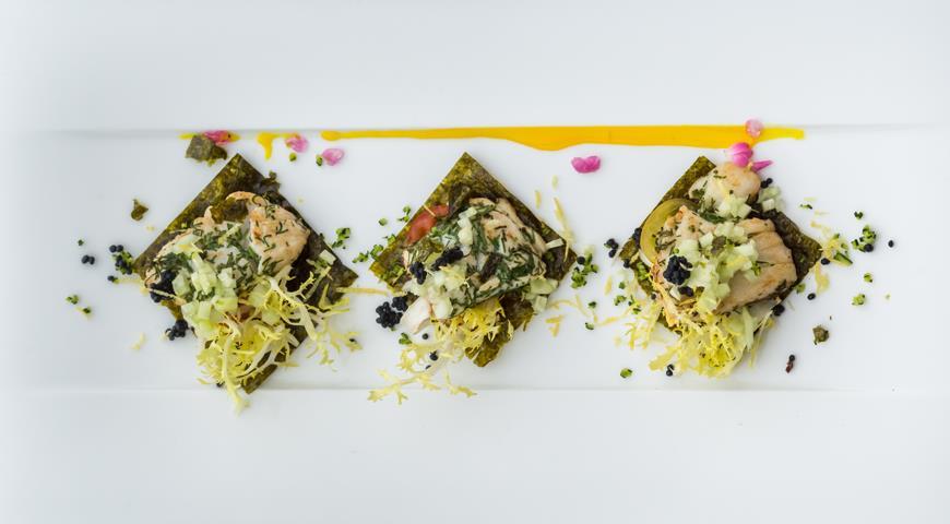 Рецепт Дорада с водорослями