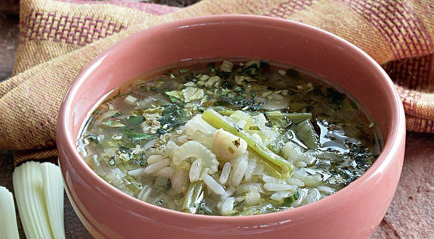 Рецепт Зеленый суп с бобами
