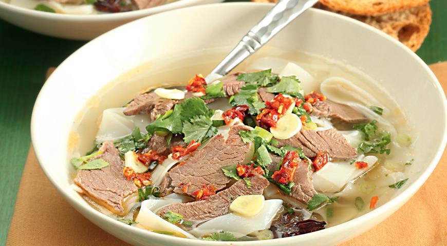 Рецепт Острый хайнаньский суп из баранины с лапшой