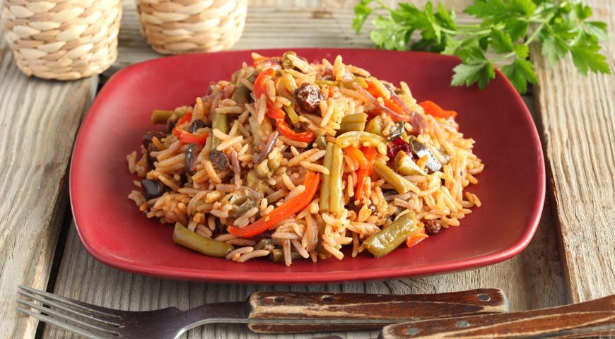 Рецепт Рис с зеленой фасолью