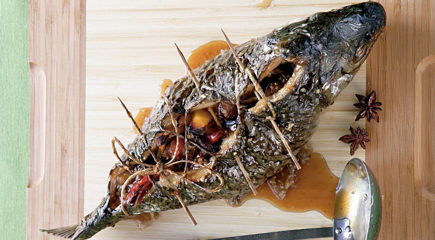 Рецепт Карп, фаршированный овощами