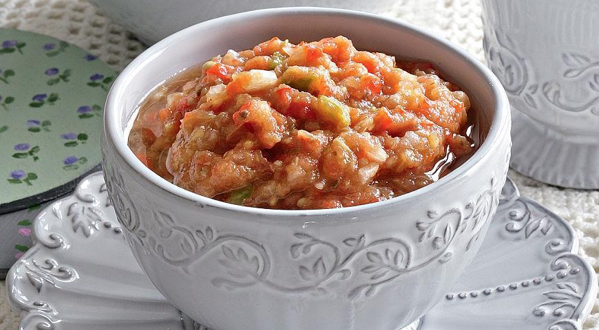 Рецепт Бабушкина икра из баклажанов с луком
