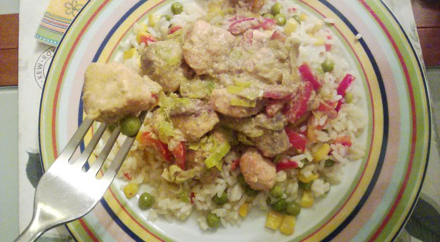 Рецепт Рыба в соусе карри