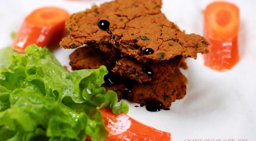 Рецепт Постная лепешка с морковью
