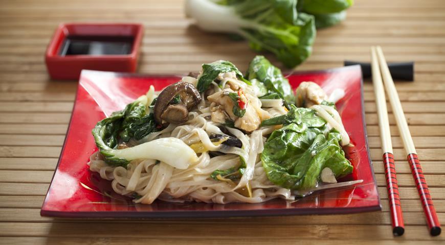 Рецепт Лапша с овощами и курицей