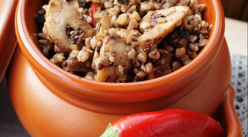 Рецепт Гречневая каша с грибами и восточным акцентом