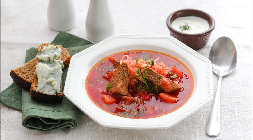 Рецепт Борщ с квашеной капустой