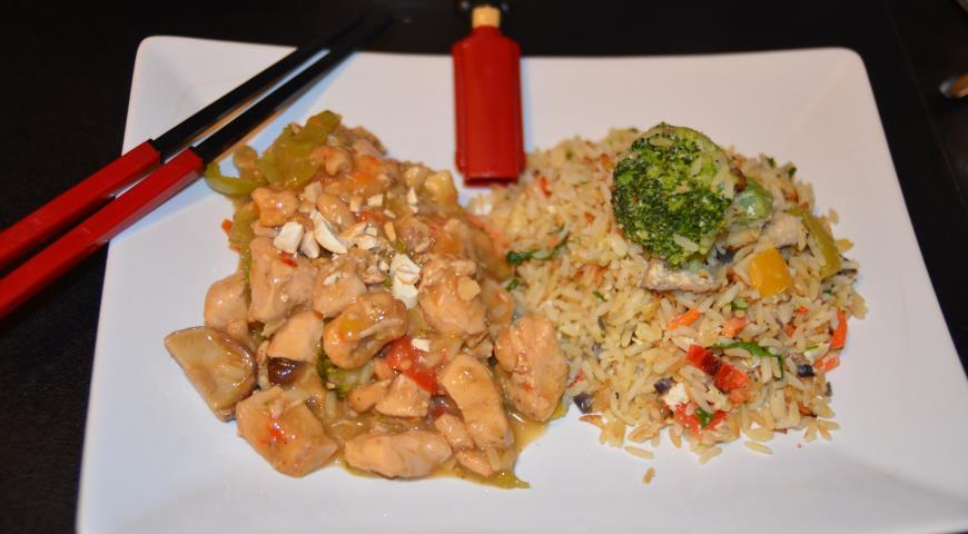 Рецепт Жареный рис с яйцом и овощами по-китайски