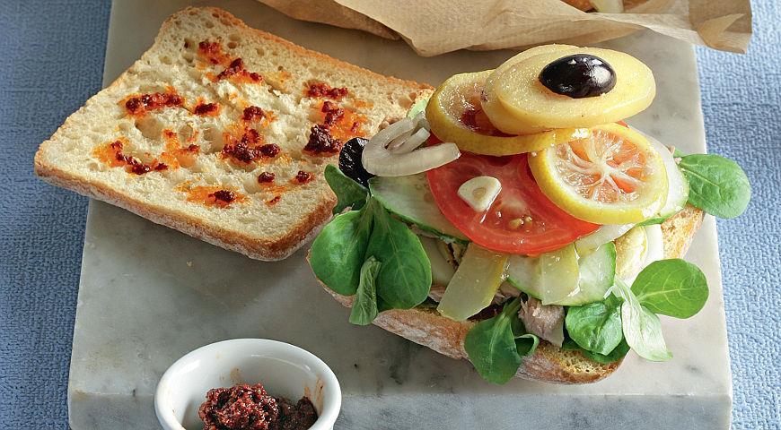 Рецепт Тунисский сэндвич