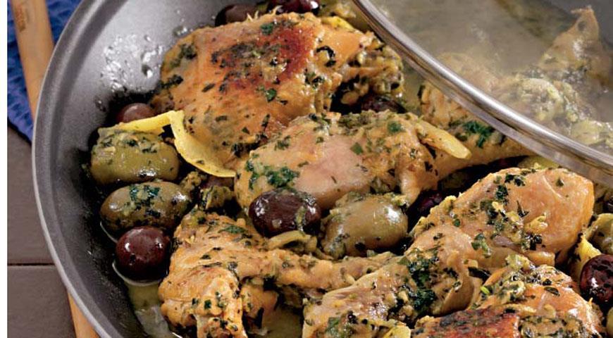 Рецепт Тажин из курицы с солеными лимонами
