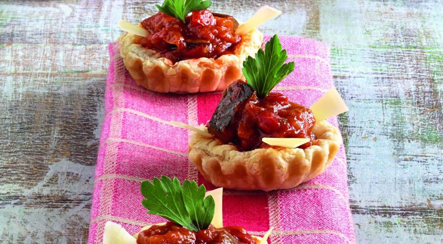 Рецепт Тарталетки с теплым салатом