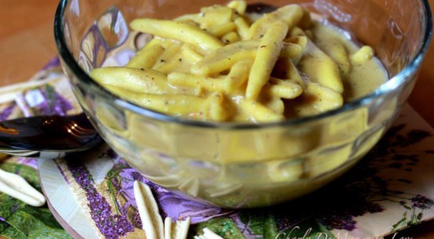 Рецепт Fusilli & Шафрановый соус