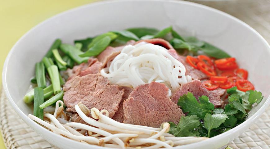 Рецепт Фо бо, говяжий суп с лапшой