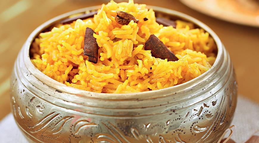 Рецепт Рассыпчатый рис с куркумой