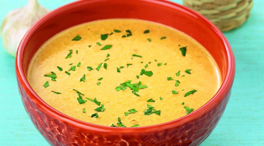 Рецепт Суп из чечевицы Футбол с карри