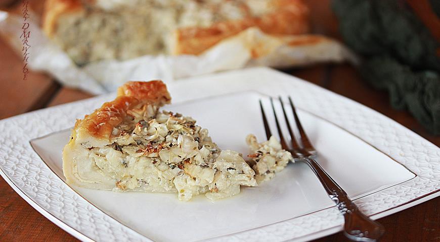 Рецепт Капустный пирог - самый постный, а еще вкусный и сытный