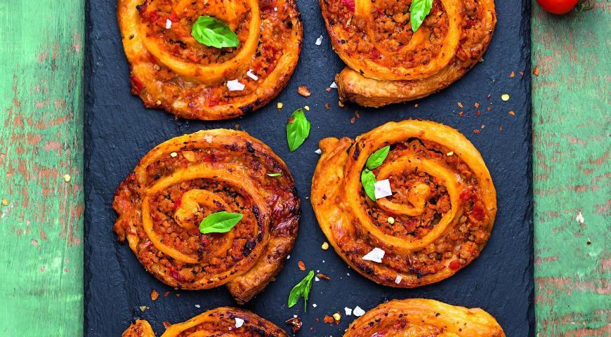 Рецепт Пицца - рулет болоньезе