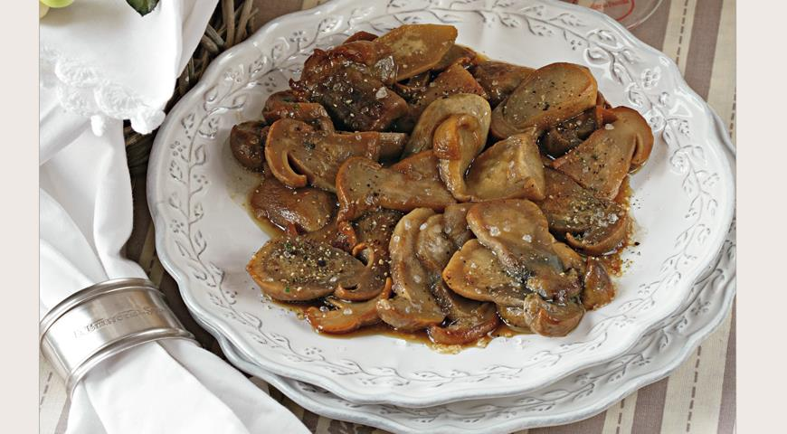 Рецепт Жареные белые грибы