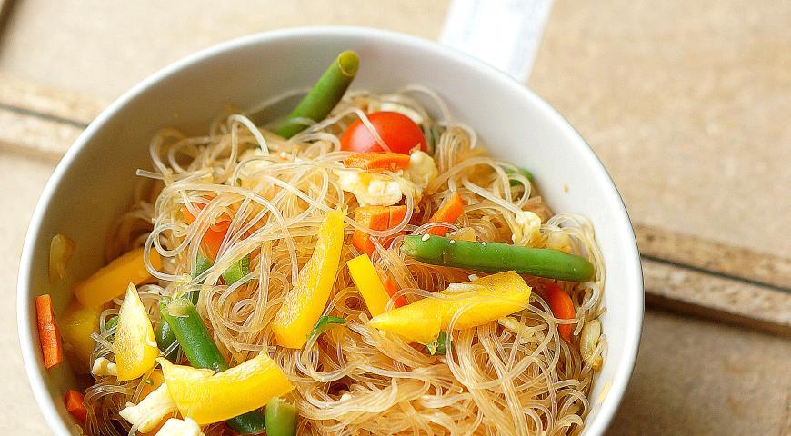 Рецепт Фунчоза с овощами