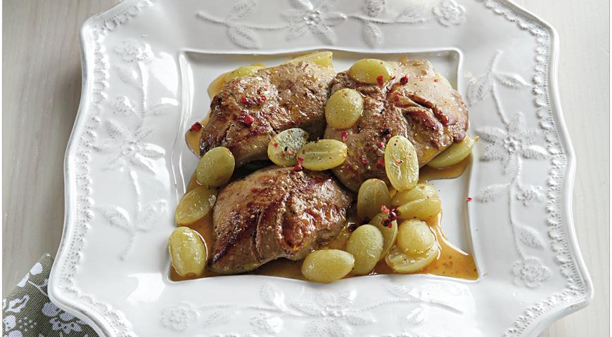 Рецепт Фуа-гра с мускатным виноградом