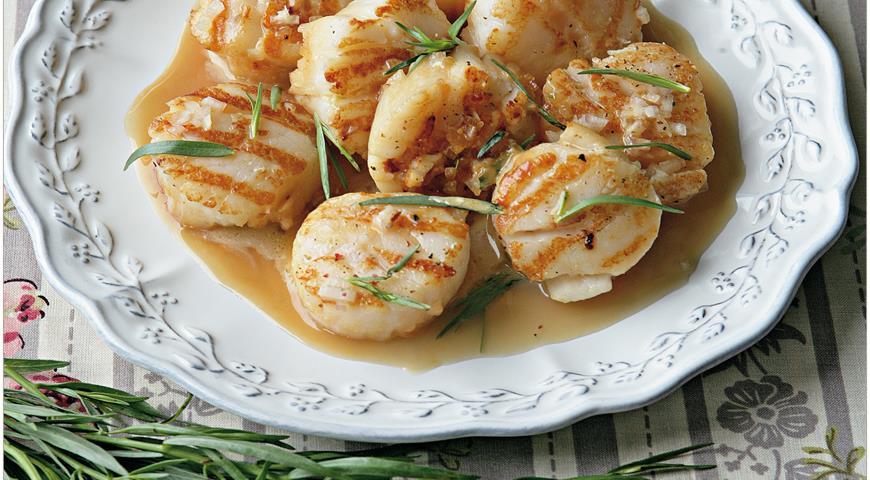 Рецепт Морские гребешки, жаренные с эстрагоном