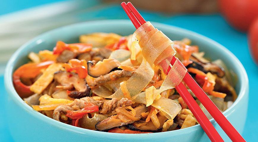 Рецепт Картофельная лапша с овощами