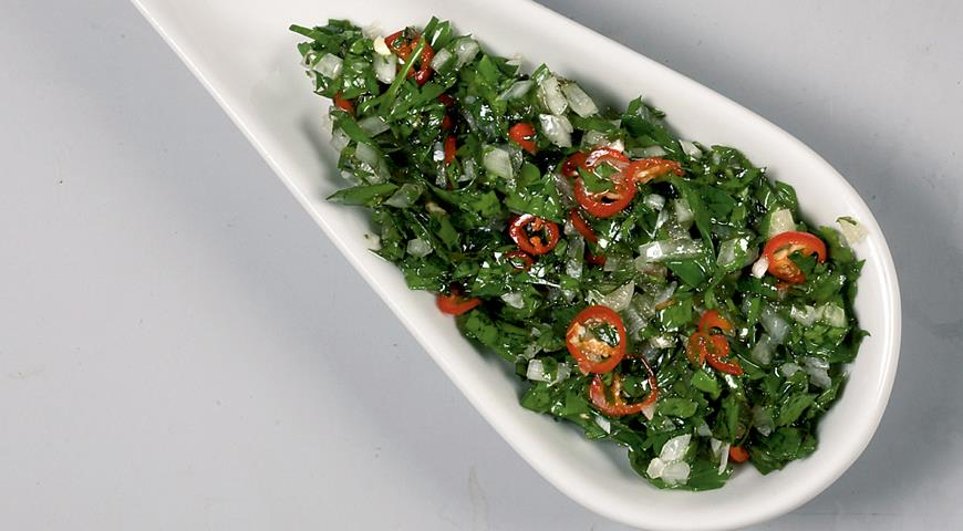 Рецепт Маринад к мясу с пряной зеленью