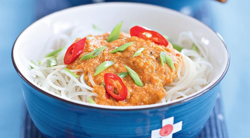 Рецепт Сатэй би хун, рисовая лапша по-сингапурски