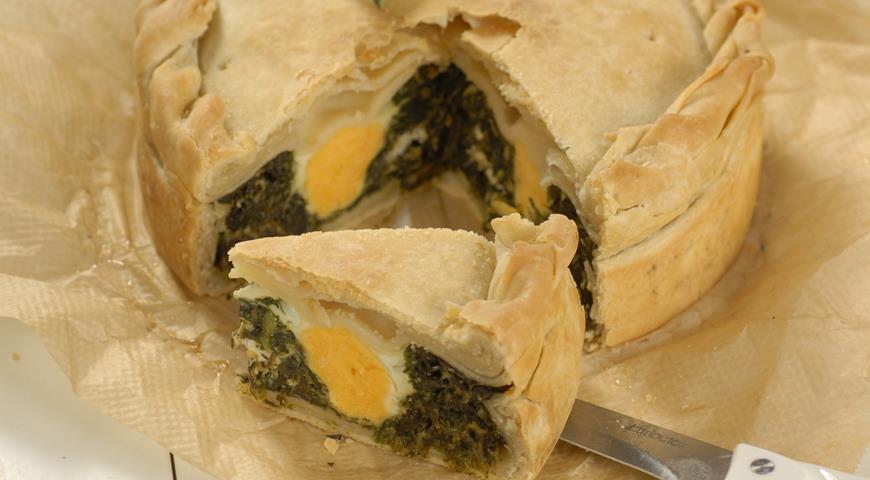 Рецепт Итальянский пирог со шпинатом