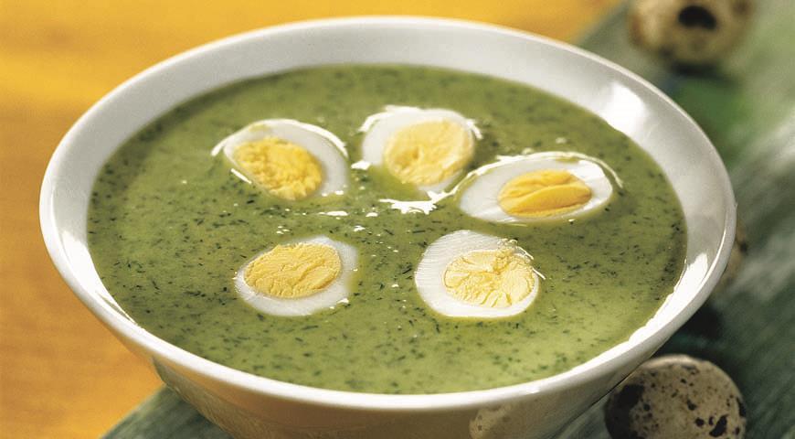 Рецепт Пасхальный суп из зелени