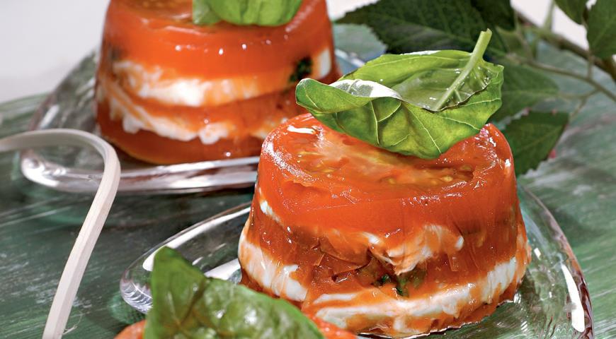 Рецепт Сырная закуска с помидорами