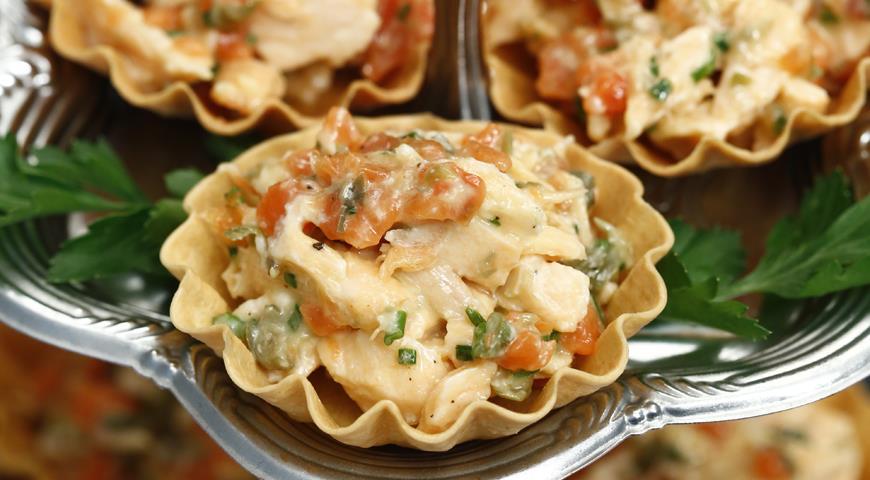 Рецепт Тарталетки с рийетом из лосося
