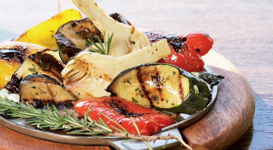 Рецепт Овощи-гриль с зеленым маслом