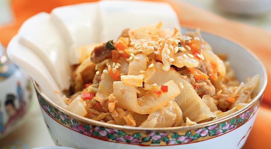 Рецепт Рагу из кимчи со свининой
