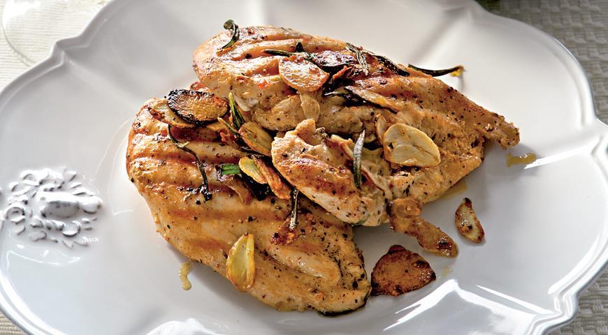 Рецепт Цыпленок на гриле под кирпичом