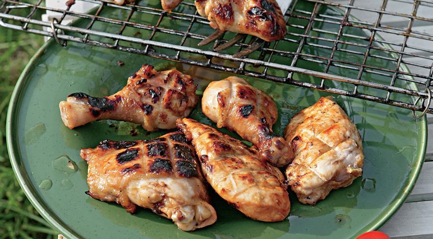 Курица, глазированная в меду и горчице, пошаговый рецепт с фото
