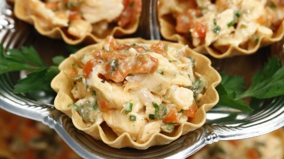 Тарталетки с рийетом из лосося, пошаговый рецепт с фото