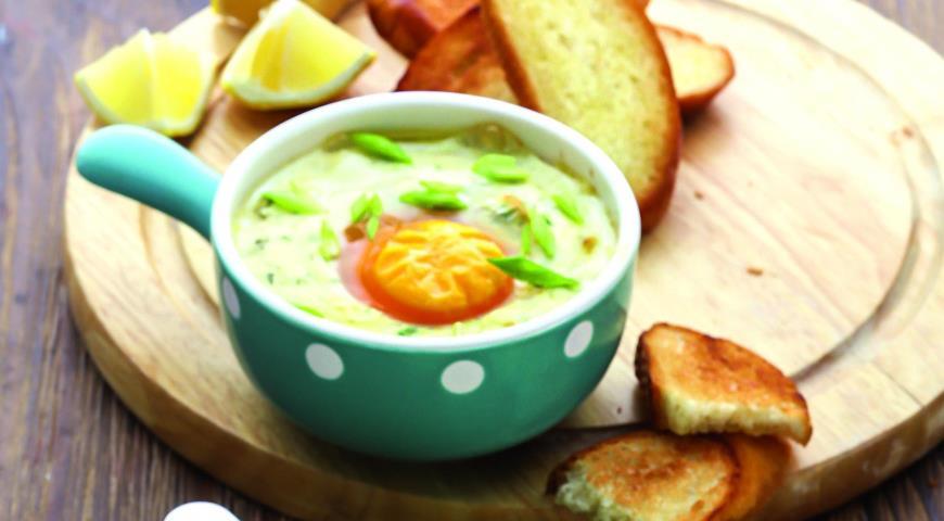 Рецепт Яйца-кокот с копченой форелью