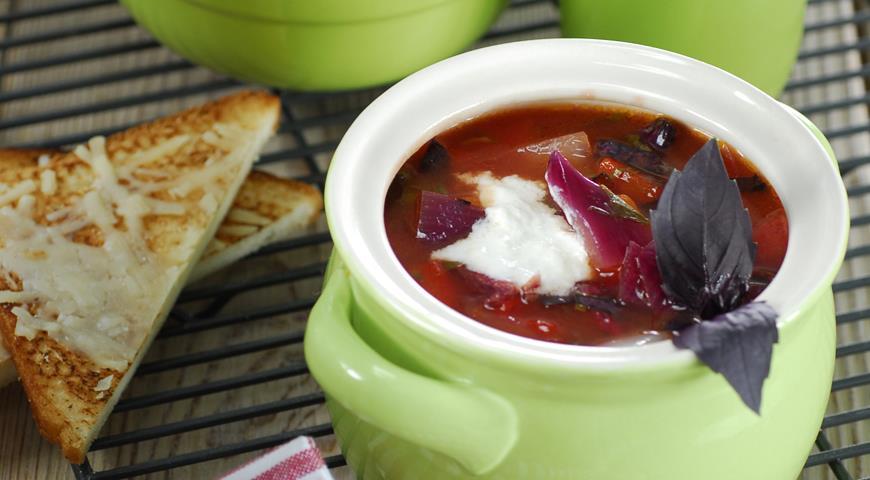 Рецепт Быстрый суп из овощей на гриле