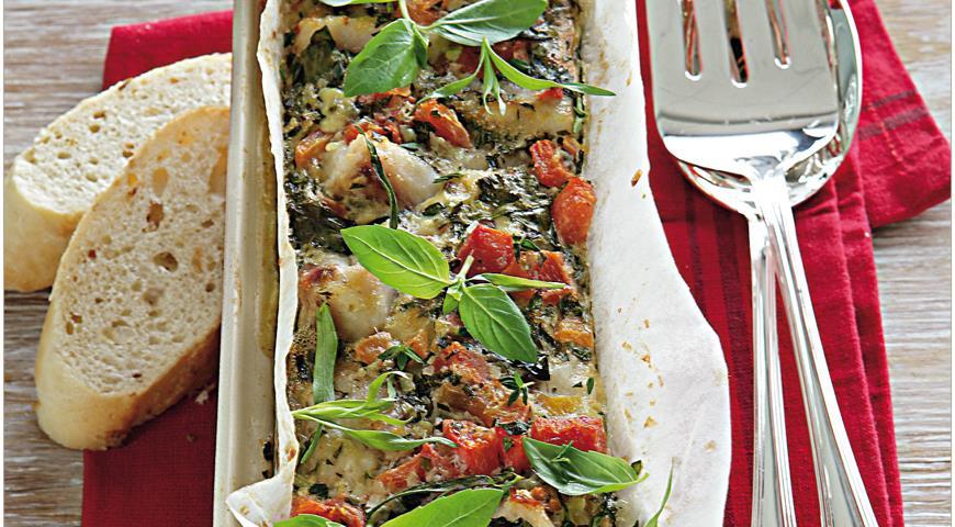 Террин из морского черта с томатами, пошаговый рецепт с фото