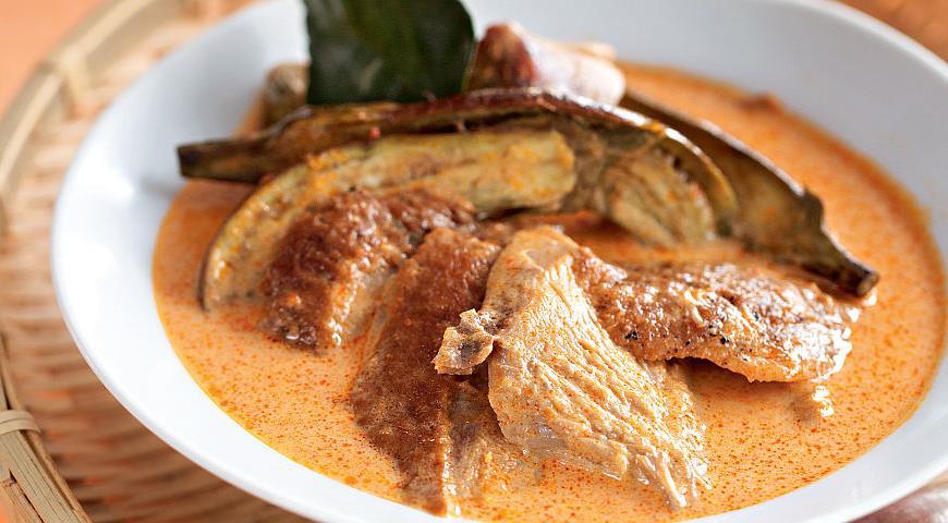 Рецепт Тайское красное карри с запеченной уткой