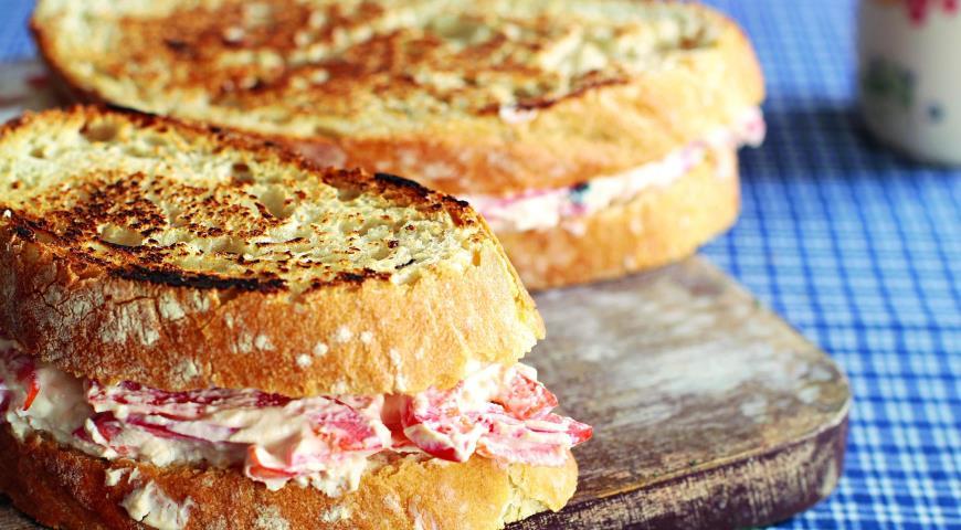 Рецепт Горячий сэндвич с перцем и сыром