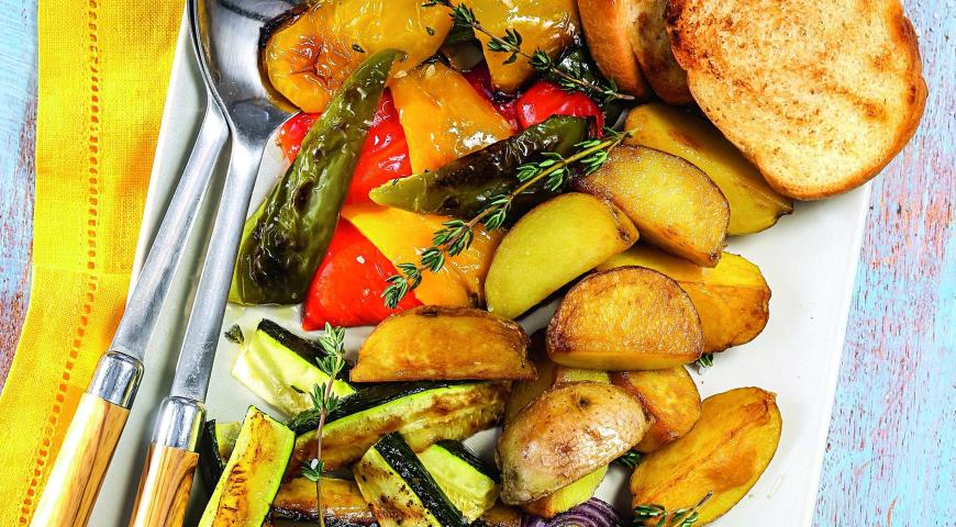 Рецепт Овощное ассорти с соусом ромеско